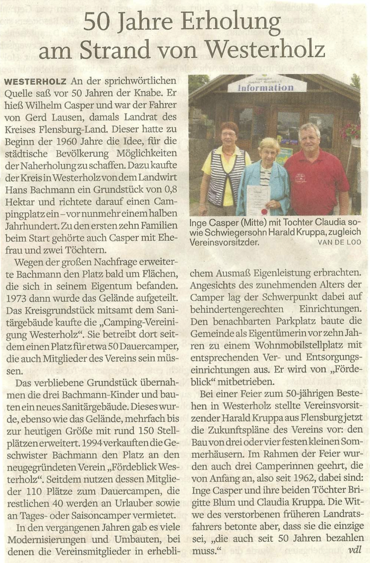 50 Jahre Campingplatz Westerholz
